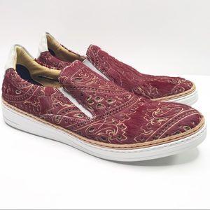 Robert Graham Hanover 2 red calf hair loafers sz 8